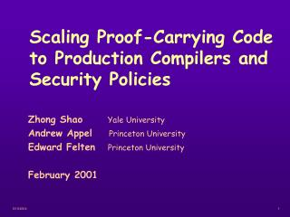 Scaling Proof-Carrying Code to Production Compilers and Security Policies