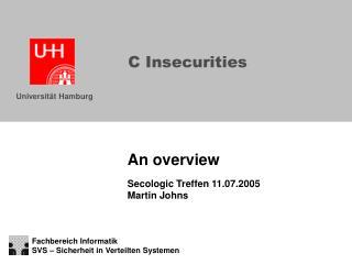 C Insecurities