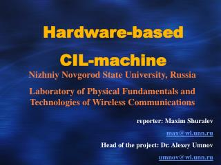 Hardware-based  CIL-machine