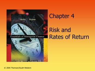 Chapter 4  Risk and  Rates of Return