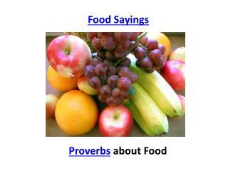 Food sayings