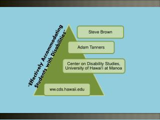Effectively Accommodating Students with Disabilities