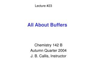 All About Buffers