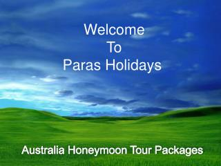Are you Planing for Honeymoon Book Romantic Australia Honeym