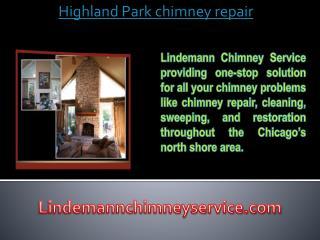 Highland Park chimney repair