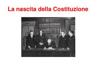 La nascita della Costituzione