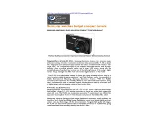 Samsung launches budget compact camera