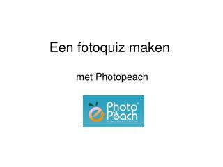 Een fotoquiz maken