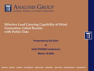 Effective Load Carrying Capability of Wind Generation: Initial Results with Public Data