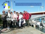 11 randonneurs sont ravis de partir   la d couverte de l Ile Sainte-Lucie  Port la Nouvelle ce 11 Avril 2012