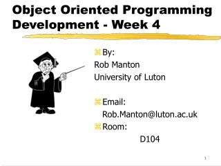 Object Oriented Programming Development - Week 4