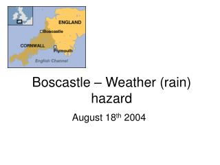 Boscastle   Weather rain hazard