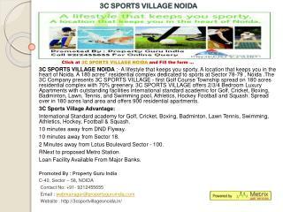 3c sports village,3c sports village noida