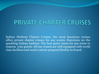 private charter cruises