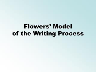 Flowers  Model of the Writing Process