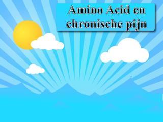 amino acid en chronische pijn
