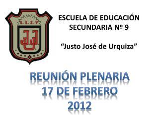 Reuni n plenaria 17 de febrero 2012