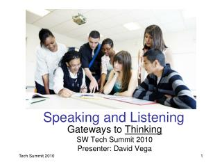 Tech Summit: Literacy Focus on Speaking & LIstening