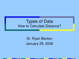 Types of Data How to Calculate Distance
