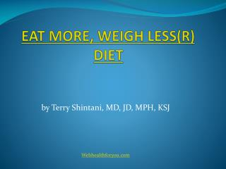 Eat more weigh less Cookbook 2013