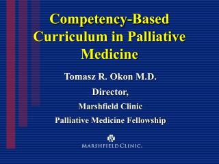 Competency-Based Curriculum in Palliative Medicine