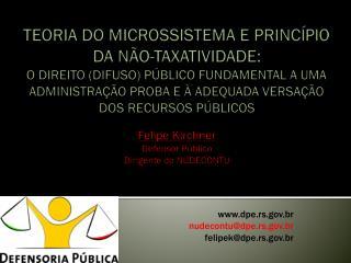 TEORIA DO MICROSSISTEMA E PRINC PIO DA N O-TAXATIVIDADE:  O DIREITO DIFUSO P BLICO FUNDAMENTAL A UMA ADMINISTRA  O PROBA