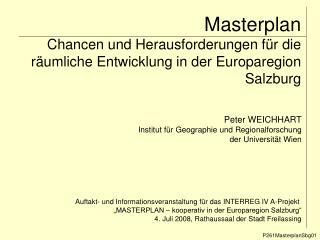 Masterplan Chancen und Herausforderungen f r die r umliche Entwicklung in der Europaregion Salzburg