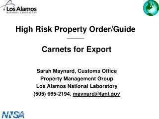 High Risk Property Order