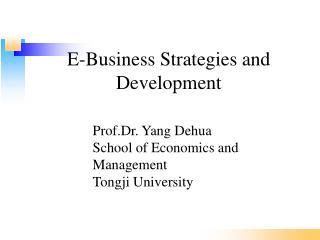 E-Business Strategies and Development