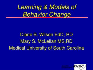 Learning  Models of Behavior Change