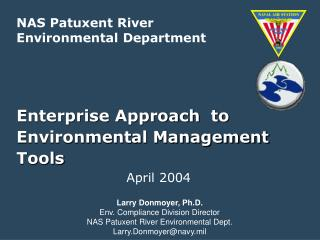 Enterprise Approach  to Environmental Management Tools