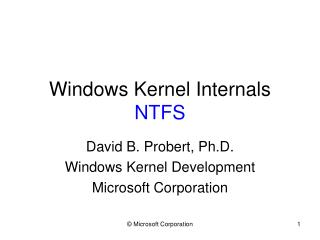 Windows Kernel Internals NTFS
