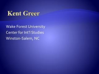Kent Greer