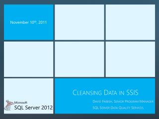 Cleansing Data in SSIS