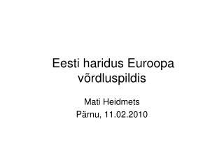 Eesti haridus Euroopa v rdluspildis