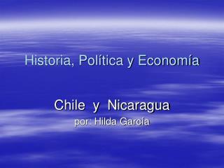 Historia, Pol tica y Econom a