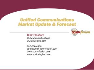 Unified Communications  Market Update  Forecast