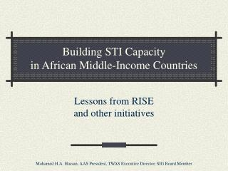 Building STI Capacity  in African Middle-Income Countries