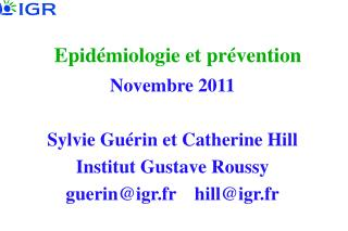 Epid miologie et pr vention