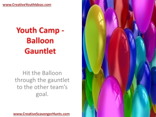 Youth Camp - Balloon Gauntlet