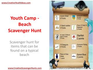 Youth Camp - Beach Scavenger Hunt