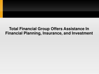 Total Financial Group | Raymond Blunk
