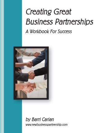 Creating Great Business Partnerships workbook - Barri Carian