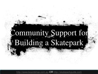 community support for building a skatepark