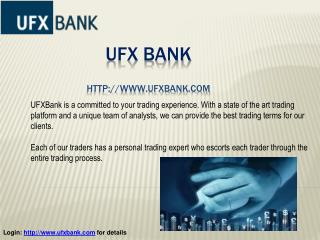 Best Forex Broker: UFX Bank