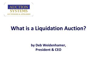 what is a liquidation auction?