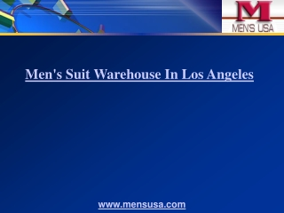 Men's Suit Warehouse In Los Angeles