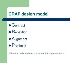 CRAP design model