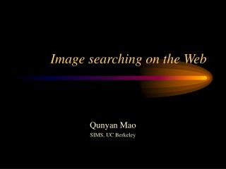 Image searching on the Web