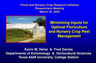 Minimizing Inputs for Optimal Floriculture and Nursery Crop Pest Management